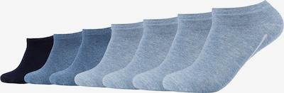 camano Socken in taubenblau / graumeliert / schwarz, Produktansicht