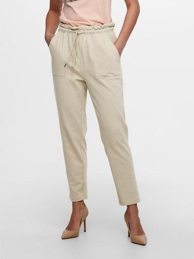 Pantaloni 'Zoey' ONLY pe crem, Vizualizare model