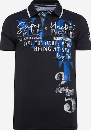 CAMP DAVID Poloshirt in marine / royalblau / weiß, Produktansicht