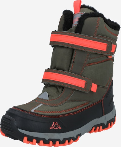 KAPPA Boots 'BONTE' in khaki / coral / black, Item view