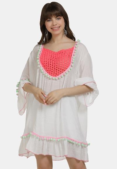MYMO Tuniek in de kleur Koraal / Wit, Modelweergave