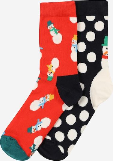 Happy Socks Ponožky - zelená / svetločervená / čierna / biela, Produkt