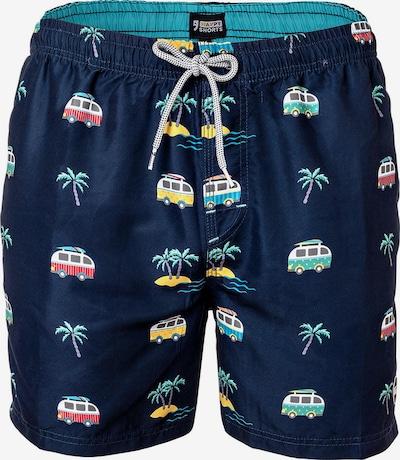 Happy Shorts Shorts de bain en bleu marine / mélange de couleurs, Vue avec produit