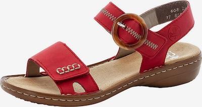 RIEKER Sandales à lanières en rouge feu, Vue avec produit