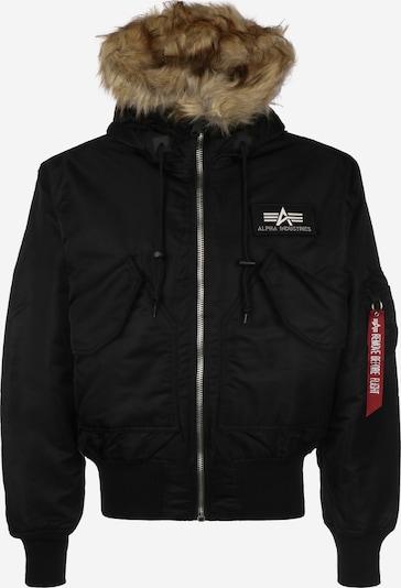 ALPHA INDUSTRIES Winterjas '45P Hooded Custom' in de kleur Zwart, Productweergave