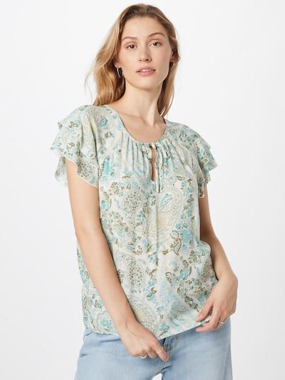Orsay Bluse i turkis / khaki / pastelgrøn / hvid, Modelvisning