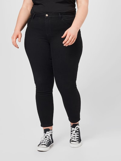 ONLY Carmakoma Jeans 'CARANTE' in schwarz: Frontalansicht