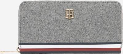 TOMMY HILFIGER Geldbörse 'MELTON' in navy / graumeliert / rot / weiß, Produktansicht