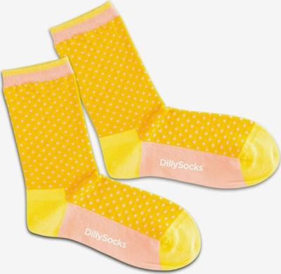 Calzino 'Sunshine Dots' DillySocks di colore giallo / arancione / rosa chiaro, Visualizzazione prodotti