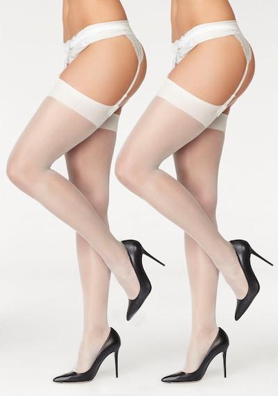LASCANA Strapsstrümpfe in weiß, Produktansicht
