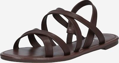 Sandale cu baretă rubi pe ciocolată, Vizualizare produs