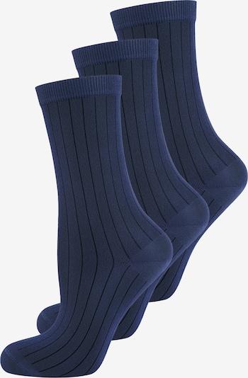 ELBEO Damensocken ' 3-Pack Fashion Ribs ' in blau, Produktansicht