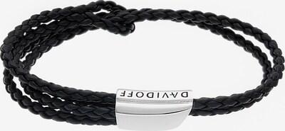 Davidoff Armband in schwarz / silber, Produktansicht