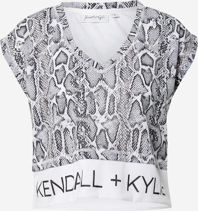 KENDALL + KYLIE T-shirt en noir / blanc, Vue avec produit