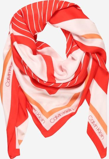 Calvin Klein Tuch in koralle / dunkelorange / pastellpink / weiß, Produktansicht