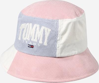 Tommy Jeans Шапка с периферия в сиво / светлорозово / бяло, Преглед на продукта