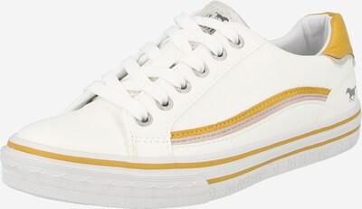 MUSTANG Baskets basses en jaune d'or / rose pastel / blanc, Vue avec produit