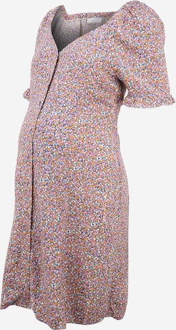 Pieces Maternity Shirt Dress 'TIMBERLY' in Blue