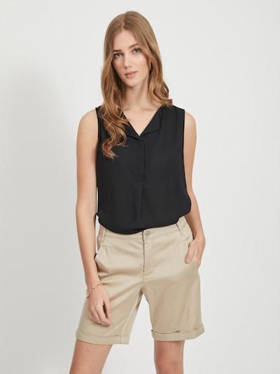 VILA Bluzka w kolorze czarnym, Podgląd na modelu(-ce)
