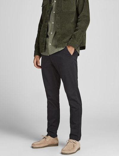 JACK & JONES Chino nohavice 'MARCO DAVE' - čierna, Model/-ka