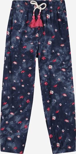 SALT AND PEPPER Pantalon en bleu marine / bleu fumé / azur / rose foncé / blanc, Vue avec produit