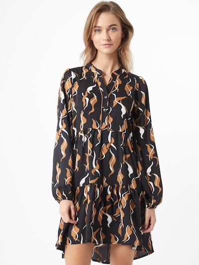 OBJECT Kleid 'Helena' in braun / schwarz / weiß, Modelansicht