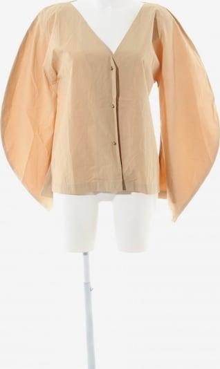 UNBEKANNT Langarm-Bluse in S in beige: Frontalansicht