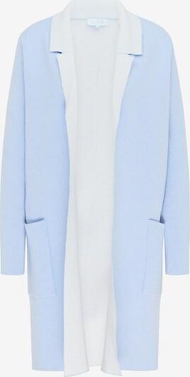 usha BLUE LABEL Cardigan en bleu clair / blanc, Vue avec produit