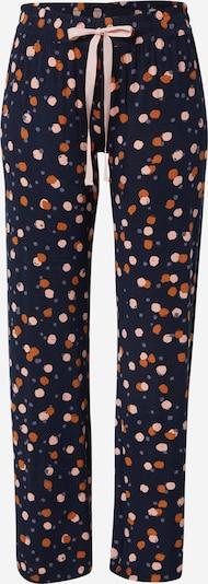 PJ Salvage Pyjamahose in creme / navy / taubenblau / karamell, Produktansicht