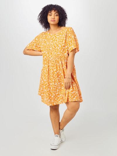 Cotton On Curve Letné šaty 'Good Times' - oranžová / biela, Model/-ka