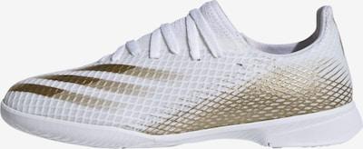 ADIDAS PERFORMANCE Fußballschuh 'X Ghosted.3 IN' in gold / weiß, Produktansicht