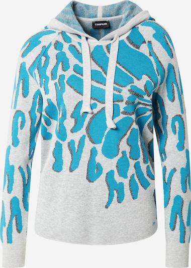TAIFUN Trui in de kleur Turquoise / Opaal / Grijs, Productweergave