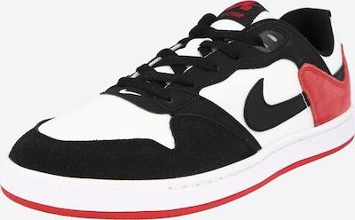 Nike SB Sneaker 'Alleyoop' in rot / schwarz / weiß, Produktansicht
