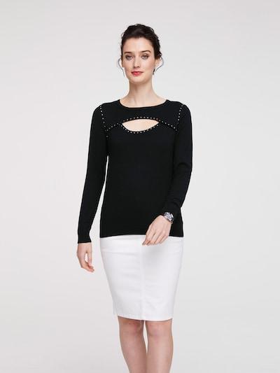 heine Pullover in schwarz, Modelansicht