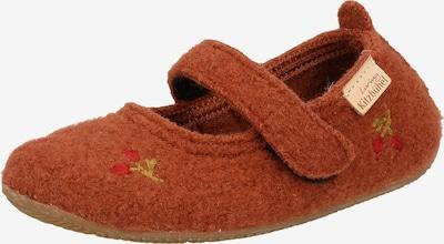 Living Kitzbühel Huisschoenen in de kleur Roestbruin / Lichtgroen / Rood, Productweergave
