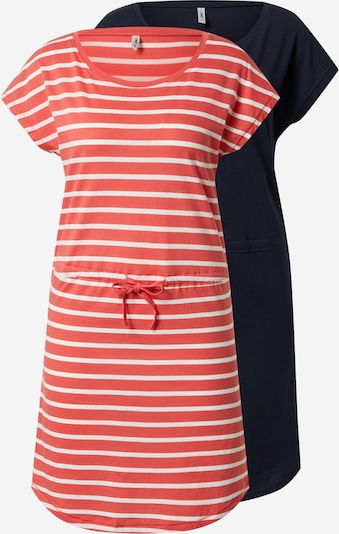 Rochie 'MAY' ONLY pe albastru noapte / roșu deschis / alb, Vizualizare produs