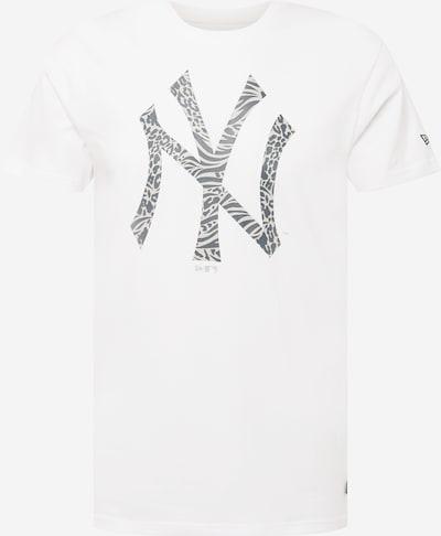 Tricou NEW ERA pe bej / gri închis / alb, Vizualizare produs