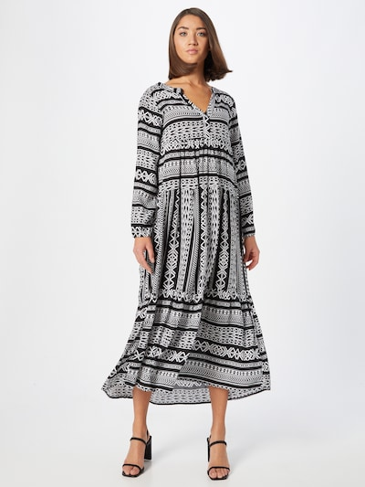 Eight2Nine Košeľové šaty - čierna / biela, Model/-ka