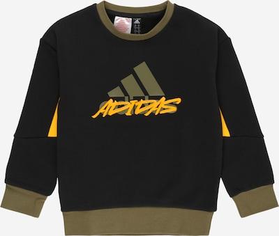 ADIDAS PERFORMANCE Sweat de sport en olive / orange / noir / blanc, Vue avec produit