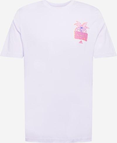 ADIDAS PERFORMANCE Функционална тениска в кралско синьо / златистожълто / люляк / бледорозово / неоново розово: Изглед отпред