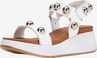 INUOVO Sandale in silber / weiß, Produktansicht