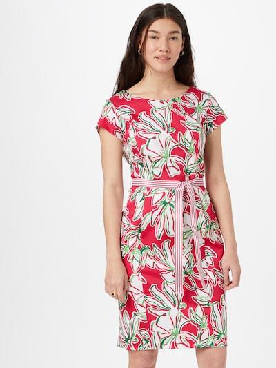 GERRY WEBER Kleid in grün / pink / weiß, Modelansicht