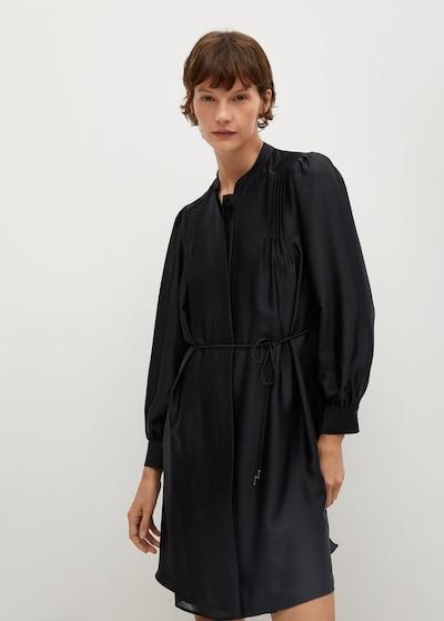 MANGO Blusenkleid 'Albani' in schwarz, Modelansicht