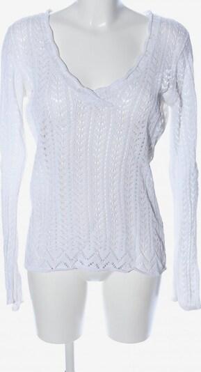 Lindex V-Ausschnitt-Pullover in M in weiß, Produktansicht