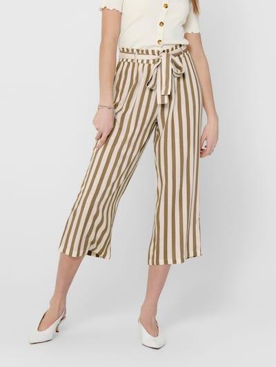 ONLY Hose in braun / weiß, Modelansicht