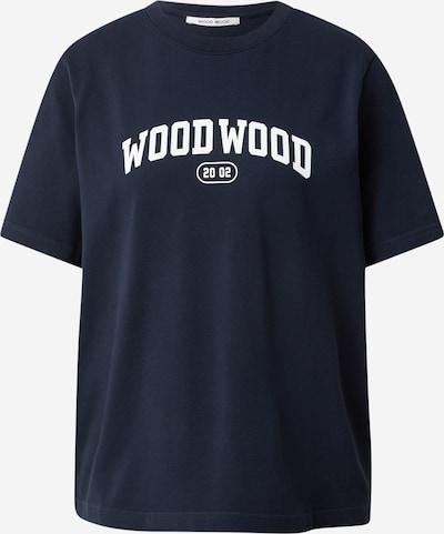 WOOD WOOD T-shirt 'Alma' i marinblå / vit, Produktvy