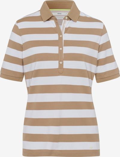 BRAX Shirt 'Cleo' in hellbraun / weiß, Produktansicht
