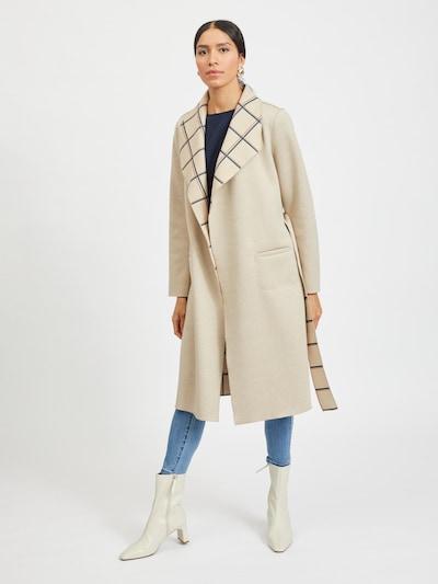 VILA Prechodný kabát 'VIJUICE' - krémová / námornícka modrá / karamelová, Model/-ka