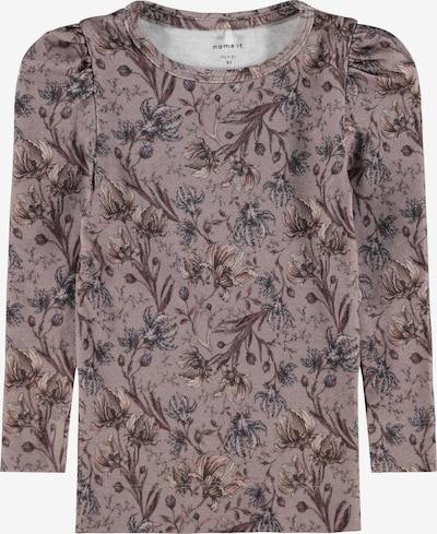 NAME IT Shirt 'Laily' in beige / himmelblau / braun / rosé, Produktansicht