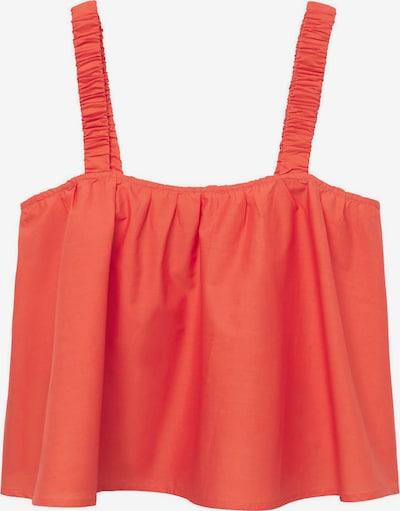 MANGO Haut 'DELOS' en orange fluo, Vue avec produit